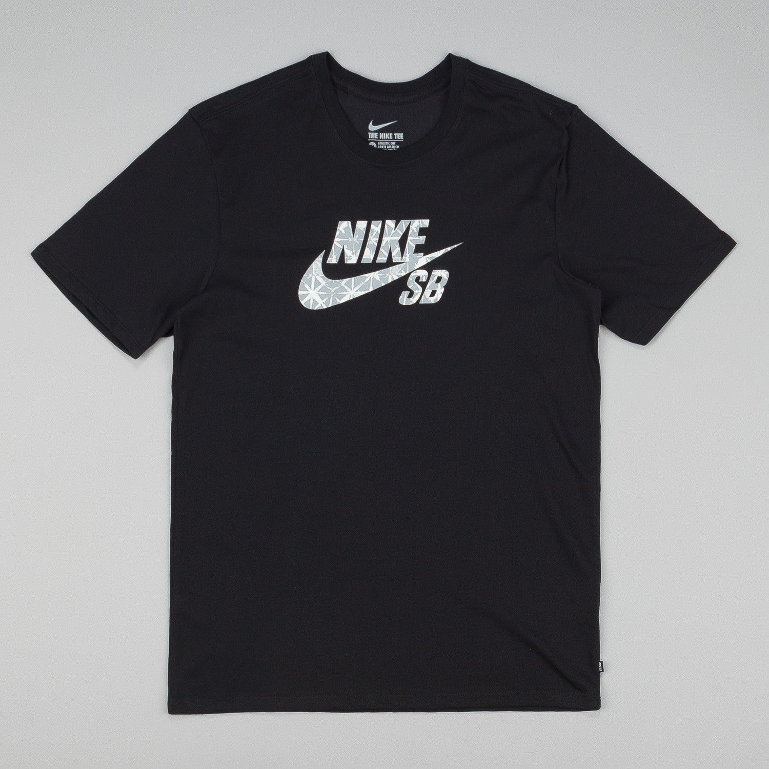 Nike SB Dri-Fit Geo Dye Icon T-Shirt - Black / Wolf Grey