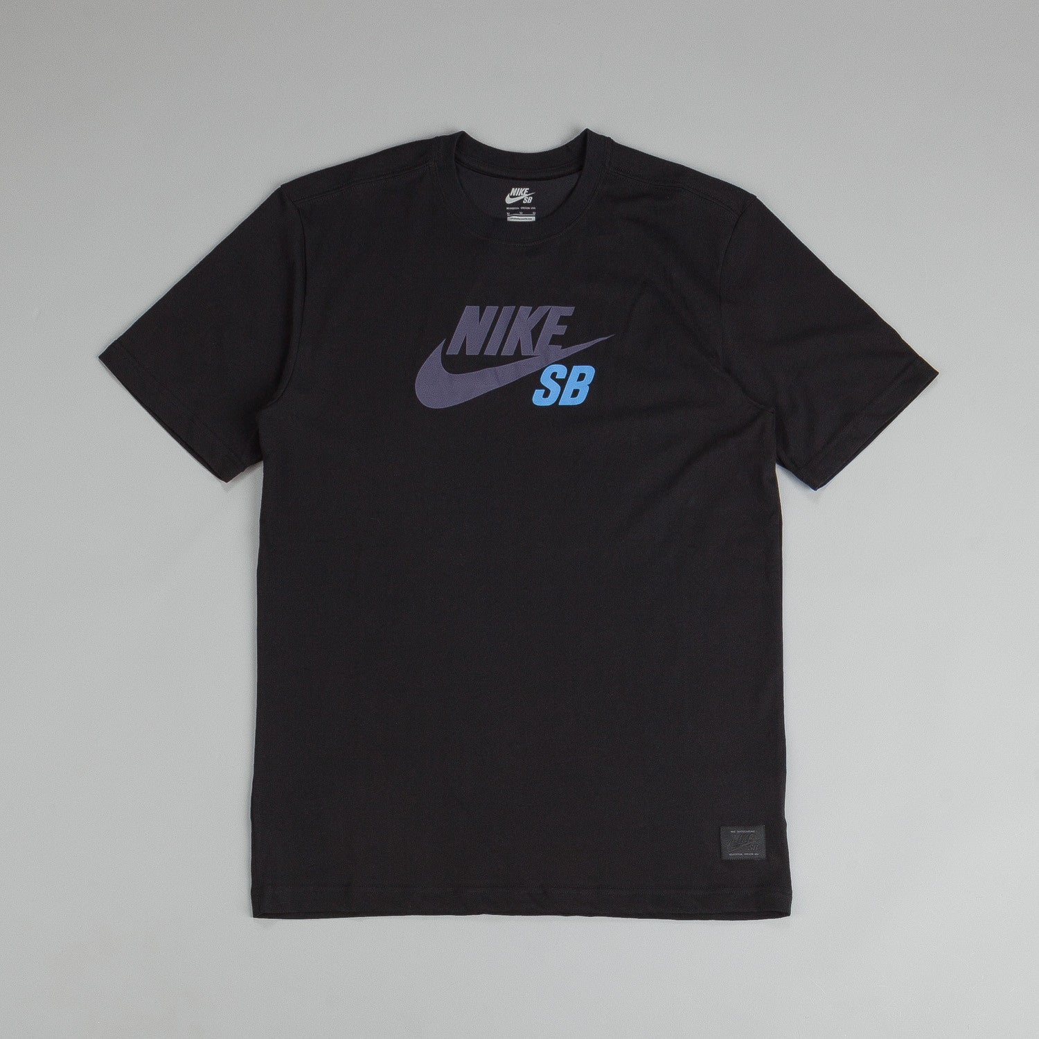 Nike Sb Dri-fit Icon Logo T Shirt Black / Dark Raisin