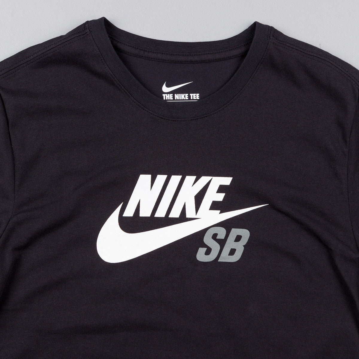 Nike SB Dri-Fit Icon Logo T-Shirt - Black / White / Tumbled Grey