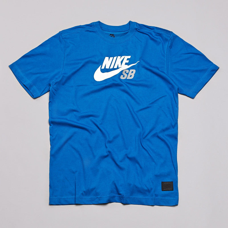 Nike Sb Dri-fit Icon Logo T Shirt Blue / White
