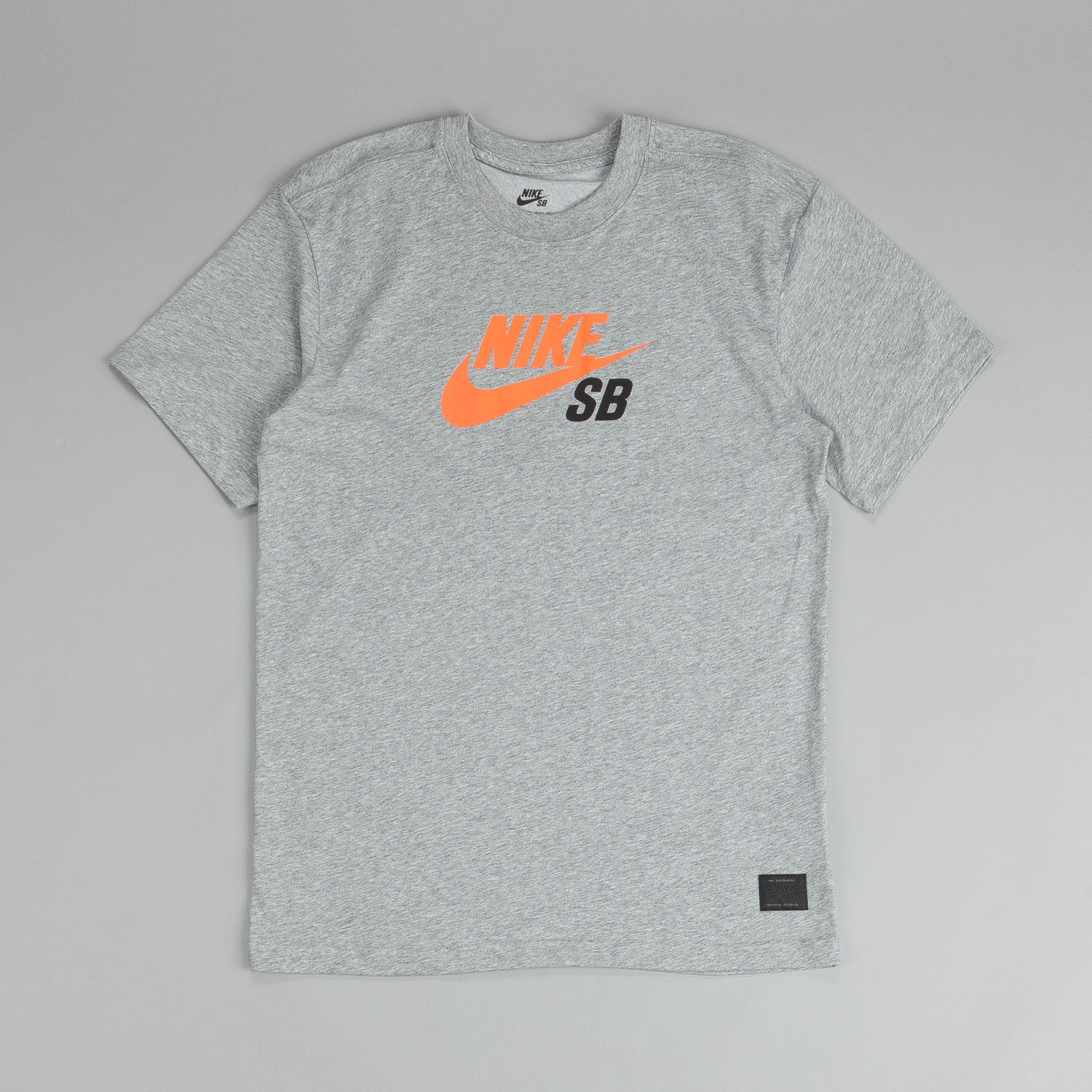 Nike SB Dri Fit Icon Logo T Shirt Dark Grey / Hyper Crimson