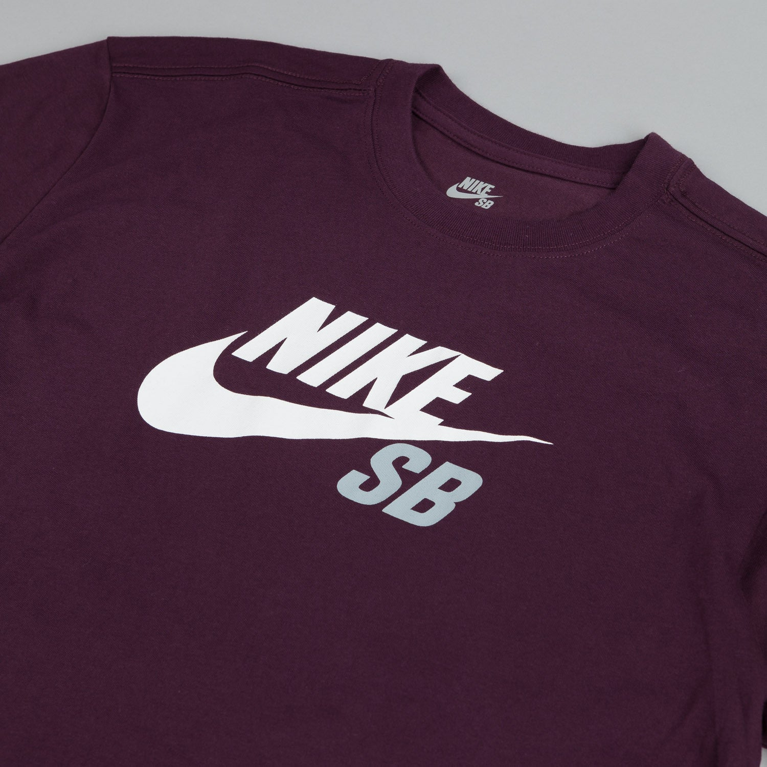 Nike Sb Dri-fit Icon Logo T Shirt Deep Burgundy / White