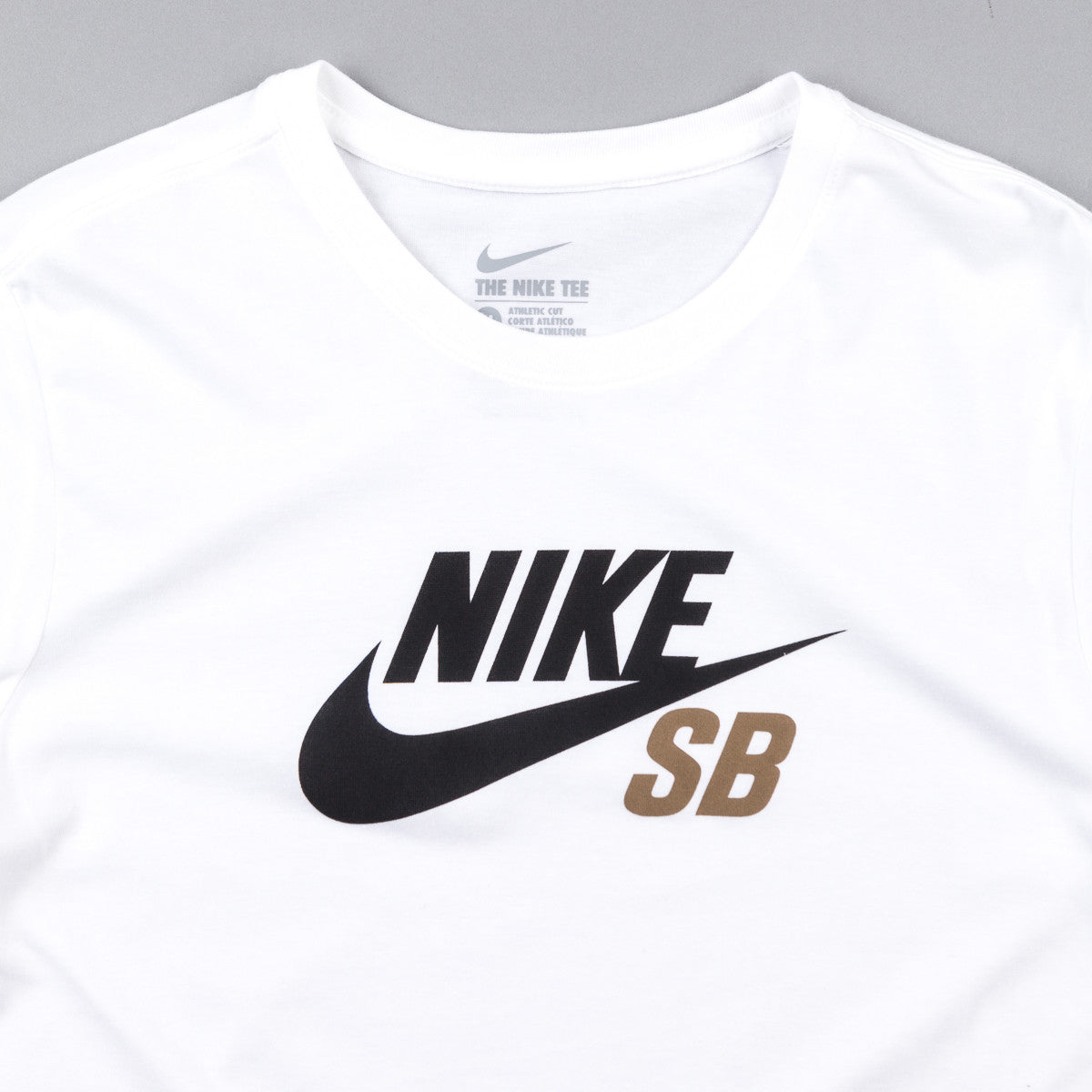 Nike SB Dri-Fit Icon Logo T-Shirt - White / White / Khaki