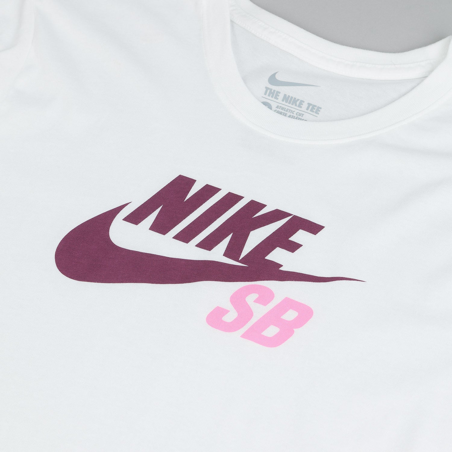 Nike SB Dri-Fit Icon Logo T-Shirt  - White / White - Villain Red