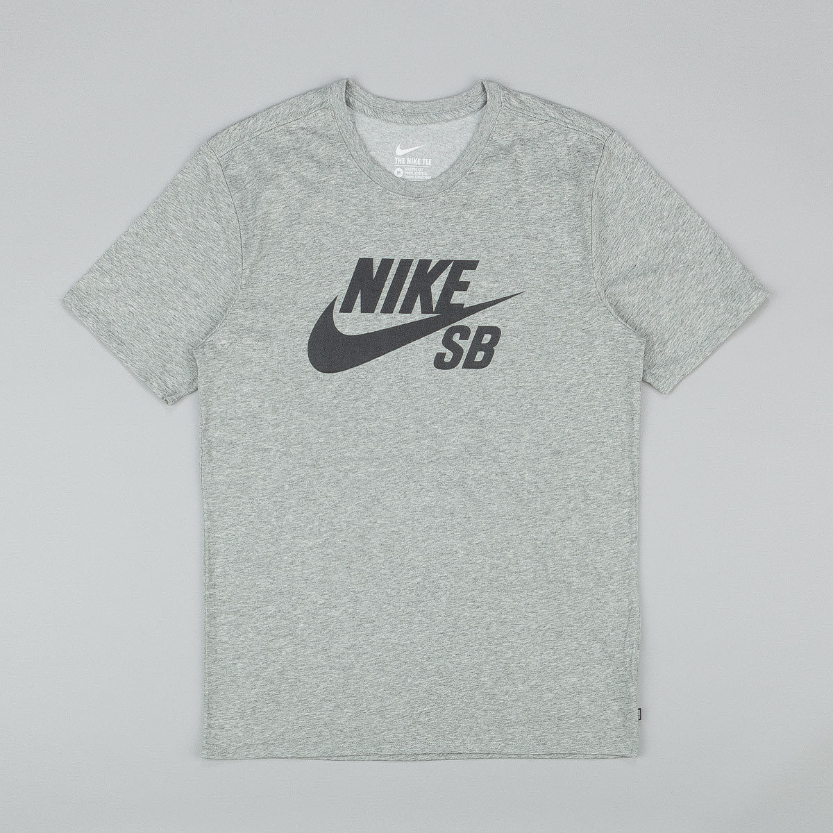 Nike SB Dri Fit Icon Reflective T-Shirt - Dark Grey Heather / Black