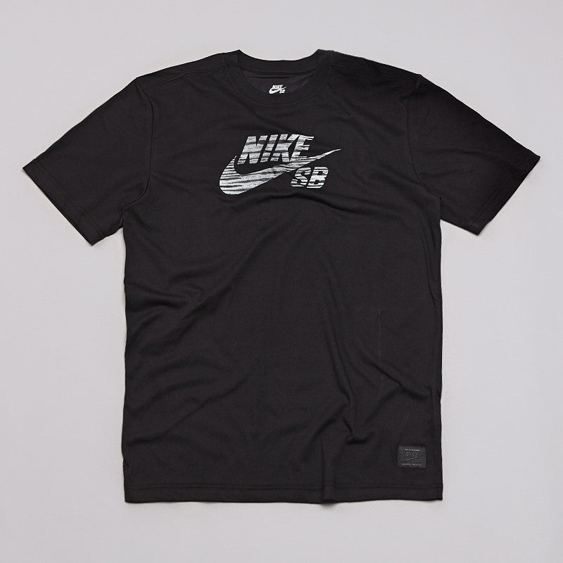 Nike Sb Icon Dri-fit Zebra T Shirt Black / Base Grey