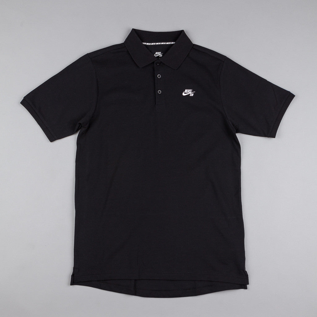 Nike SB Dri-Fit Pique T-Shirt - Black / White