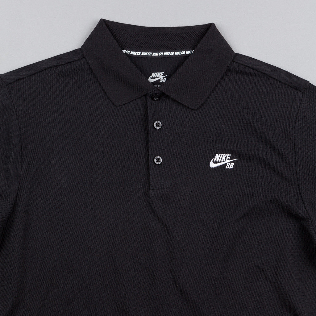 Nike SB Dri-Fit Pique Polo Shirt - Black / White