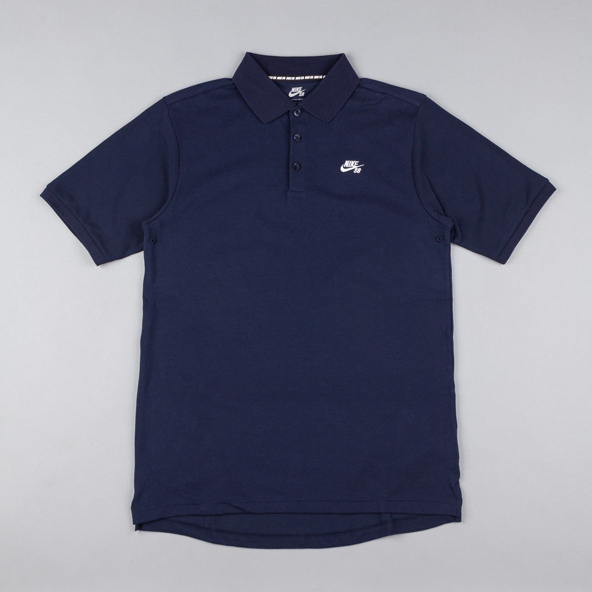 Nike SB Dri-Fit Pique T-Shirt - Obsidian / White