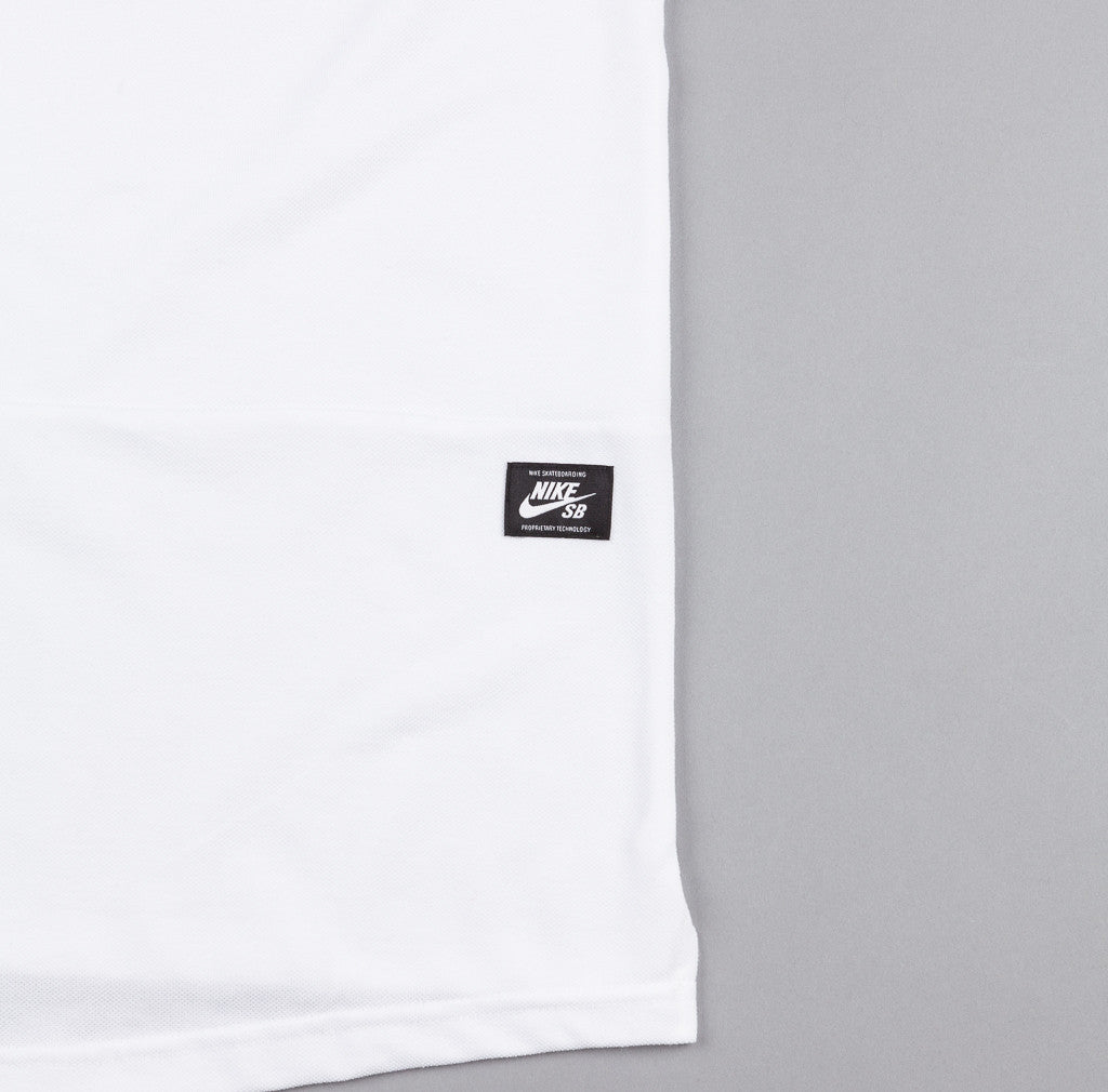 Nike SB Dri-Fit Pique Polo Shirt - White / White
