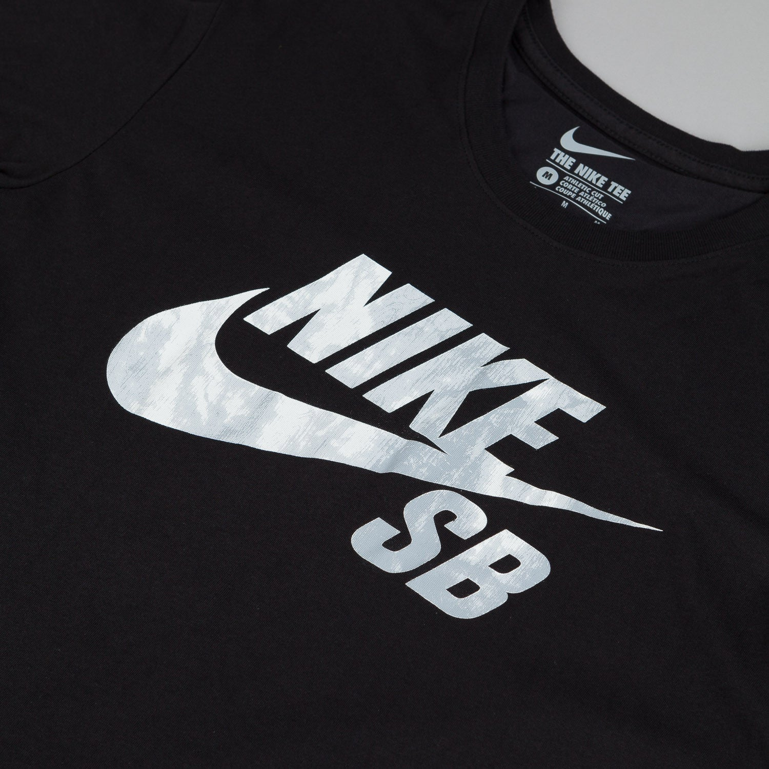 Nike SB Dri-Fit Shibori Fill Logo T-Shirt - Black / Black / Pure Platinum
