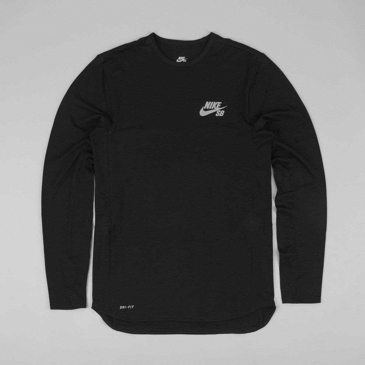 Nike SB Dri-Fit Skyline Cool Crew L/S T-Shirt - Black / Reflective