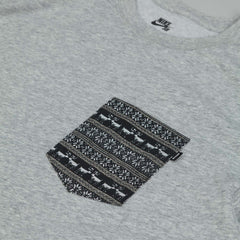 Nike SB Dri Fit Warm T Shirt Dark Grey Heather / White
