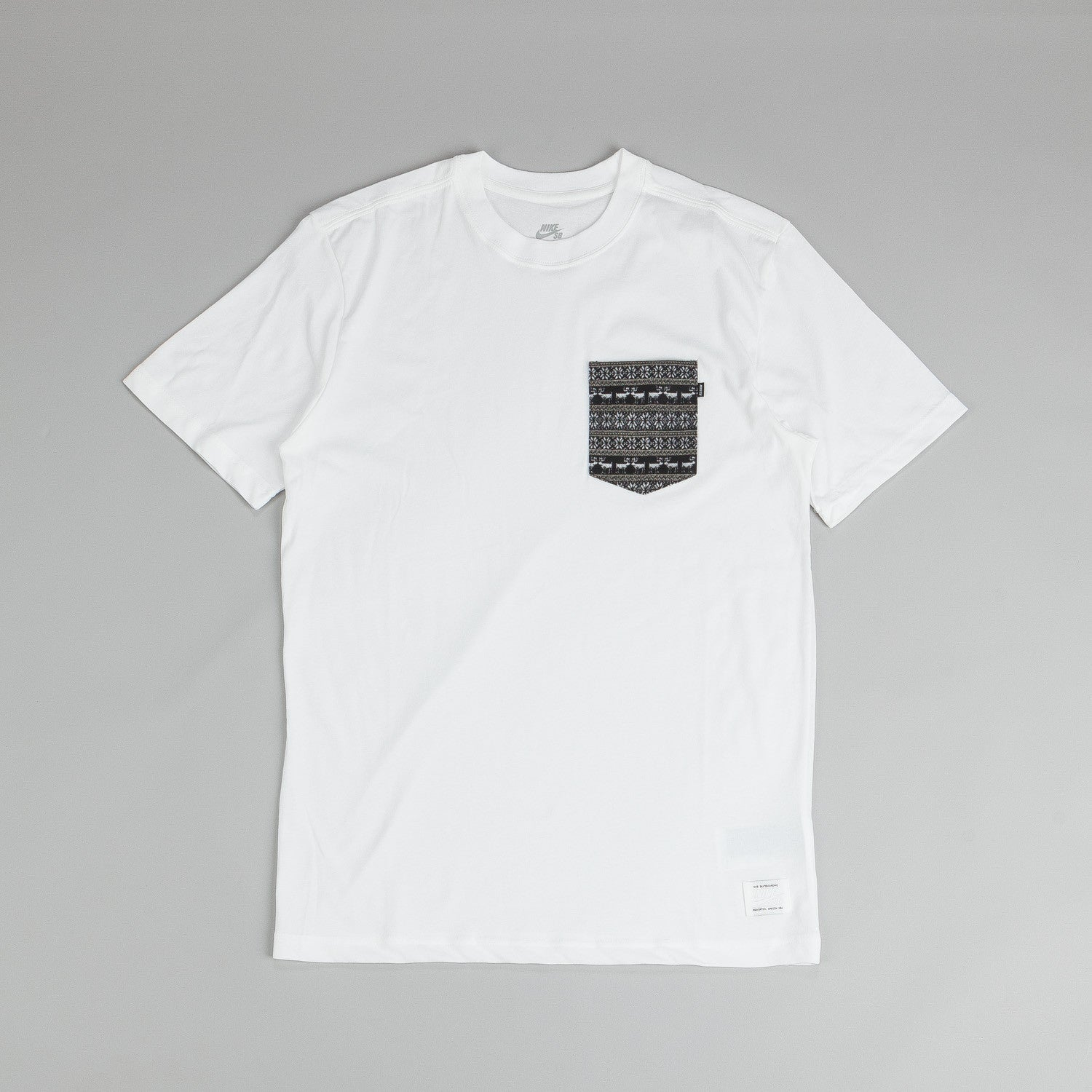 Nike SB Dri Fit Warm T Shirt White / White