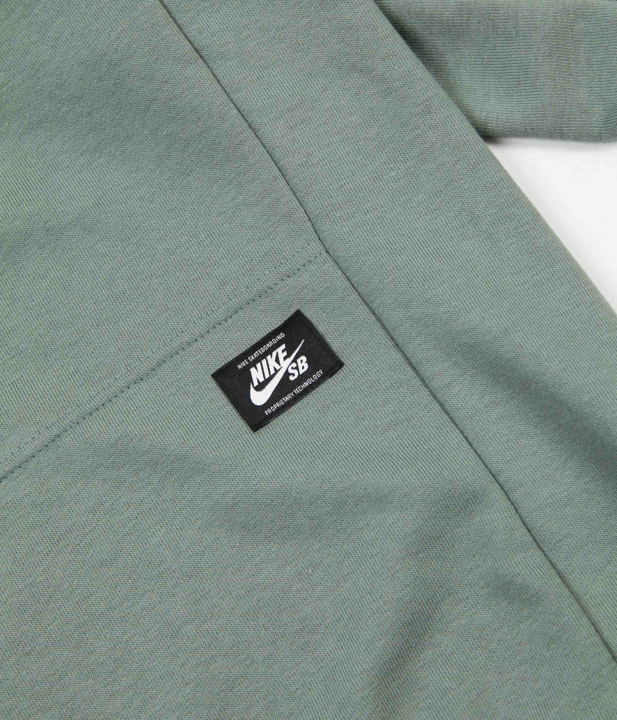 Nike Sb Dry Everett Crewneck Sweatshirt Clay Green White Flatspot