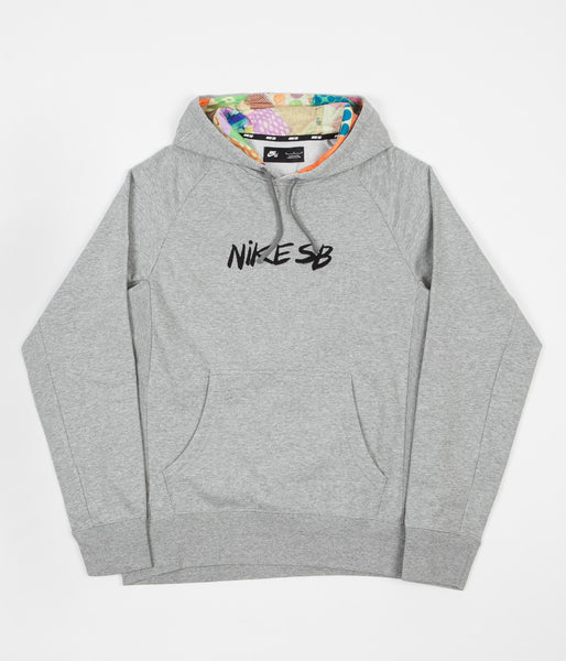 Nike SB Dry Everett Hoodie - Dark Grey Heather / Black