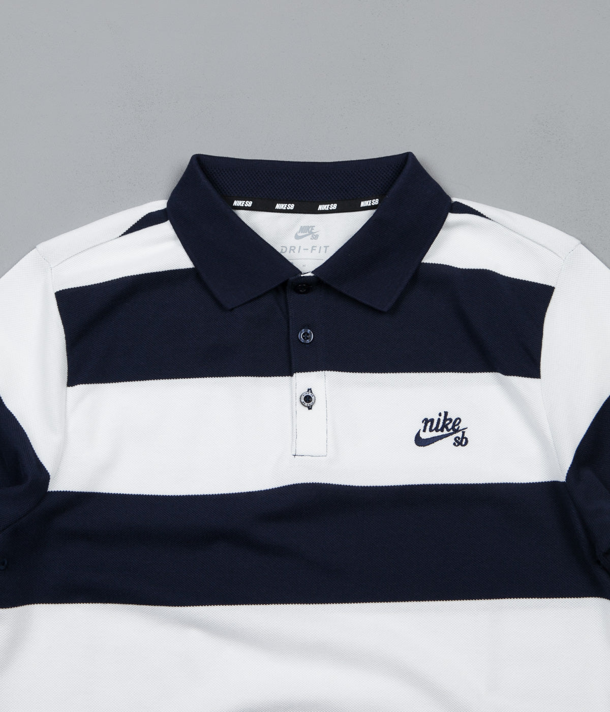 Nike SB Dry Striped Polo Shirt - Obsidian / Obsidian