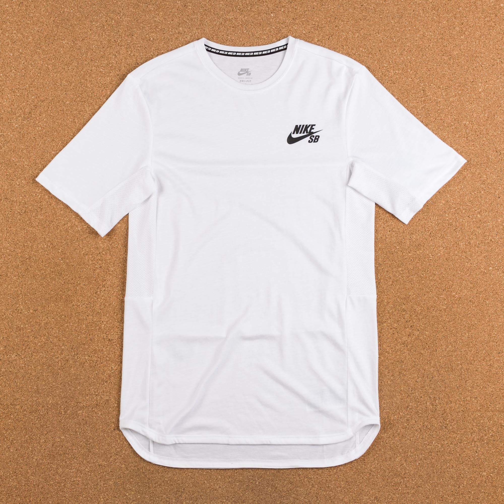 Nike SB Dry T-Shirt - White / Black