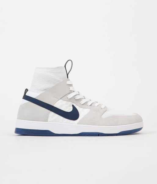 Nike SB Dunk High Elite Cyrus Bennett QS Shoes - White / Midnight Navy - White