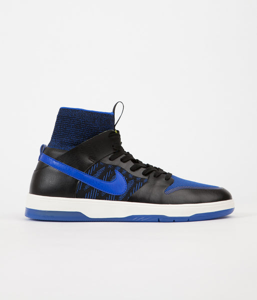 Nike SB Dunk High Elite QS Shoes - Black / Racer Blue - Sail - Sonic Yellow