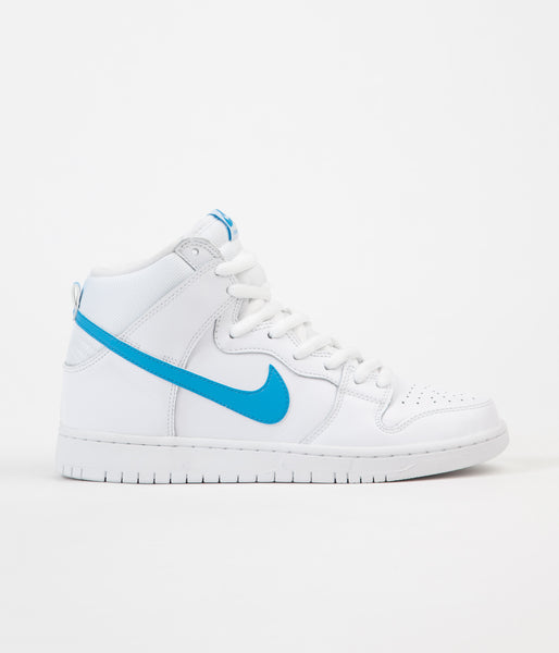 Nike SB Dunk High Mulder Shoes - White / Orion Blue - White - White