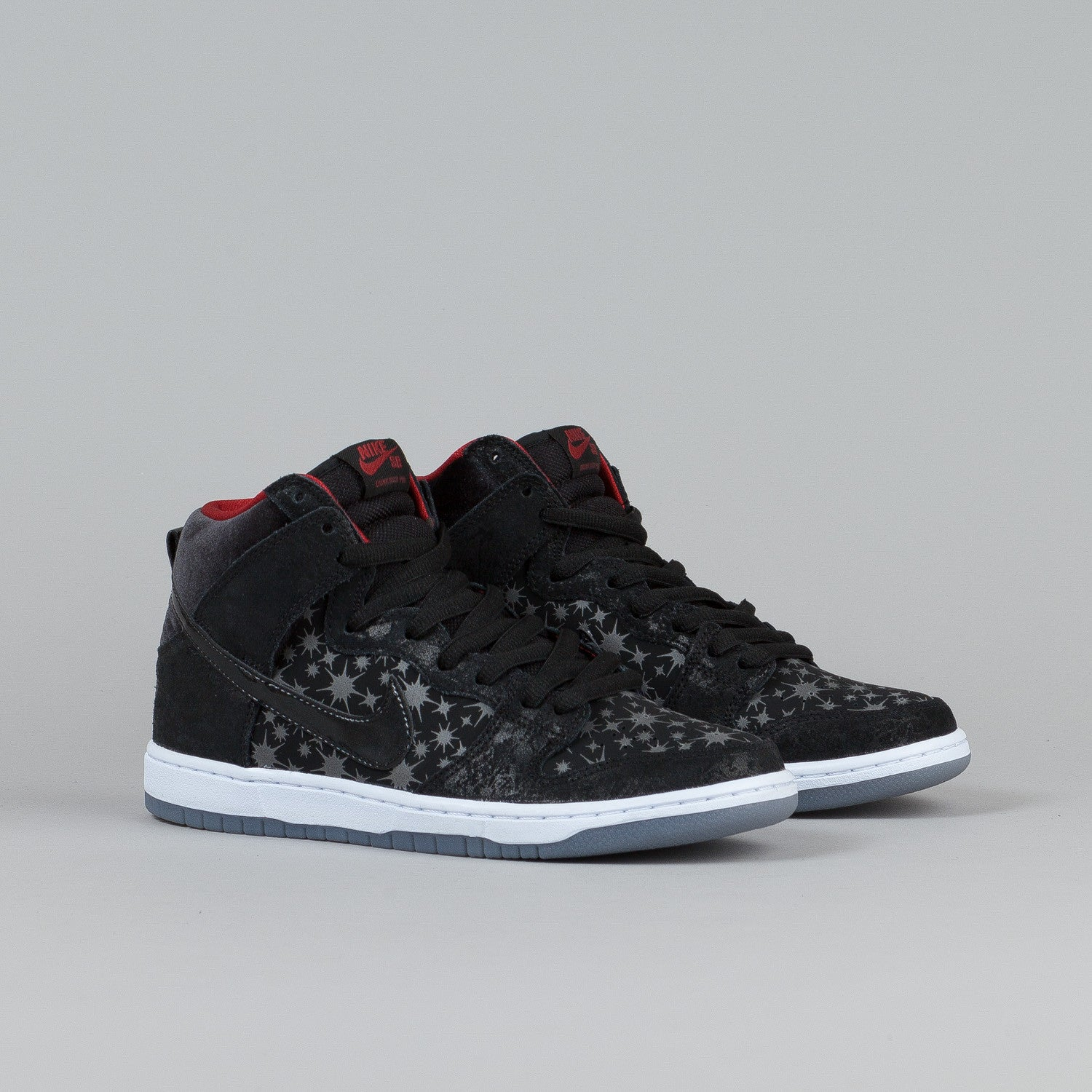 Nike SB Dunk High Premium Black / Black - Valiant Red