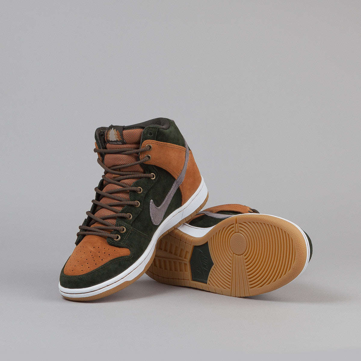 Nike SB Dunk High Premium Home Grown QS - Sequoia / Cool Grey - Ale Brown