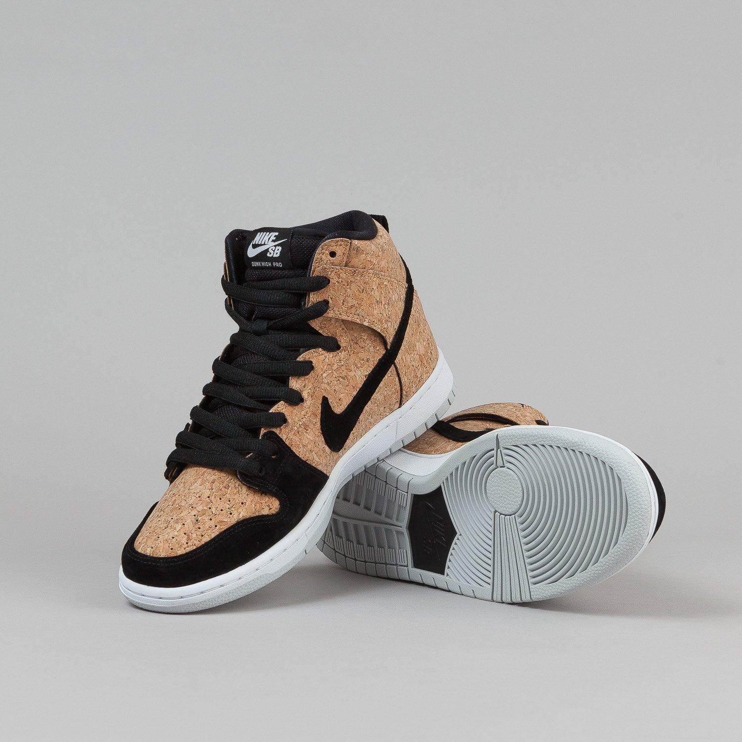 Nike SB Dunk High Premium Shoes - Black / Hazelnut / White / Black