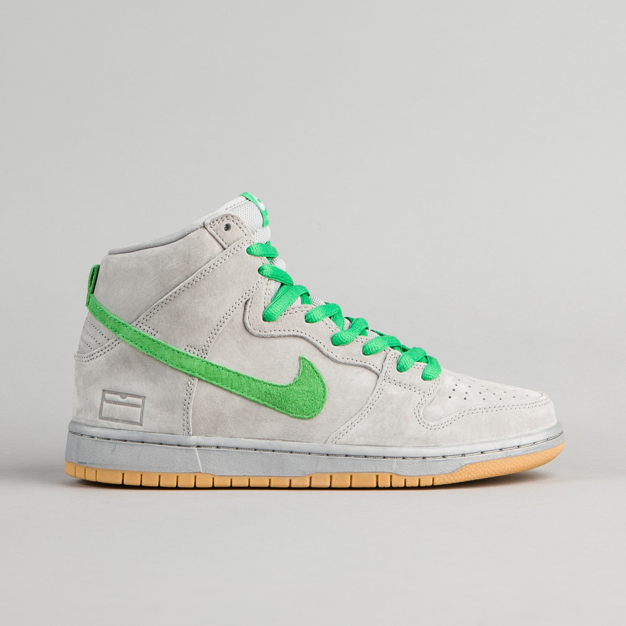 premium selection a8406 53df5 Nike SB Dunk High Premium Shoes - Metallic Silver   Hyper Verde - Gum Yellow