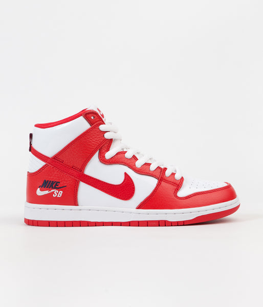 Nike SB Dunk High Premium Shoes - University Red / University Red - White
