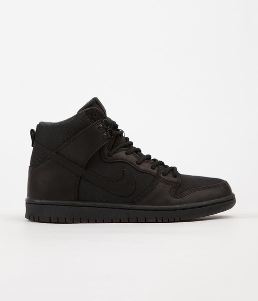 Nike SB Dunk High Pro Bota Shoes - Black / Black - Anthracite