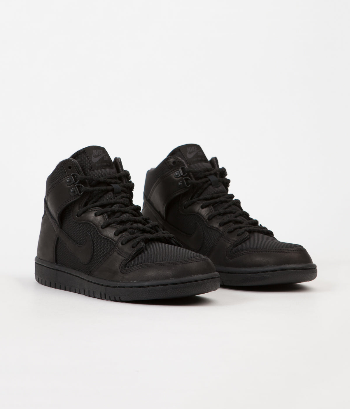 nike sb dunk high pro bota shoes black black. Black Bedroom Furniture Sets. Home Design Ideas