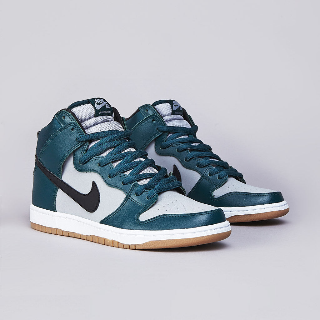Nike SB Dunk High Pro Atomic Teal / Black - Wolf Grey