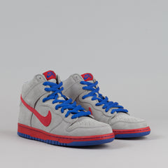Nike SB Dunk High Pro - Medium Grey / Varsity Red / Old Royal