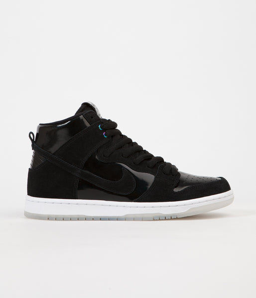 Nike SB Dunk High Pro Shoes - Black / Black - White - Clear