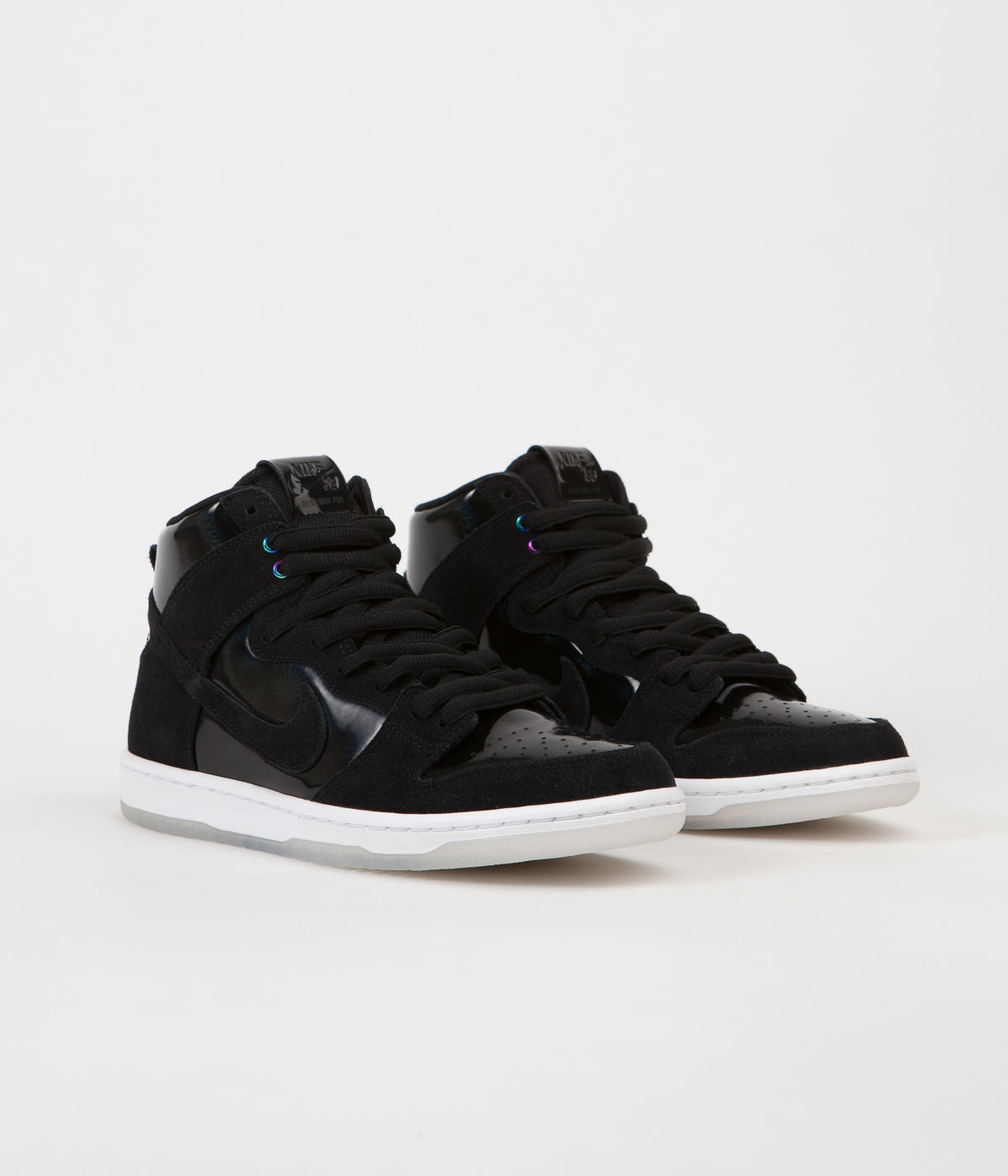 ... Nike SB Dunk High Pro Shoes - Black   Black - White - Clear ... 19102062a