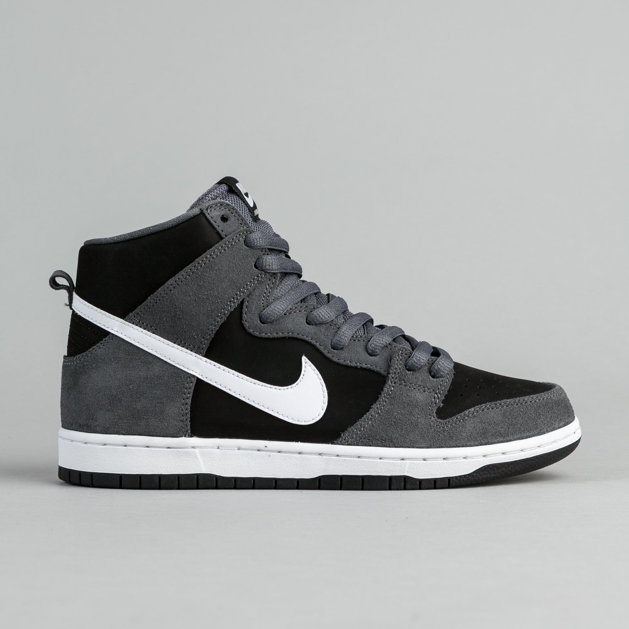 Nike SB Dunk High Pro Shoes - Dark Grey   White - Black - White ... eef3b6682916