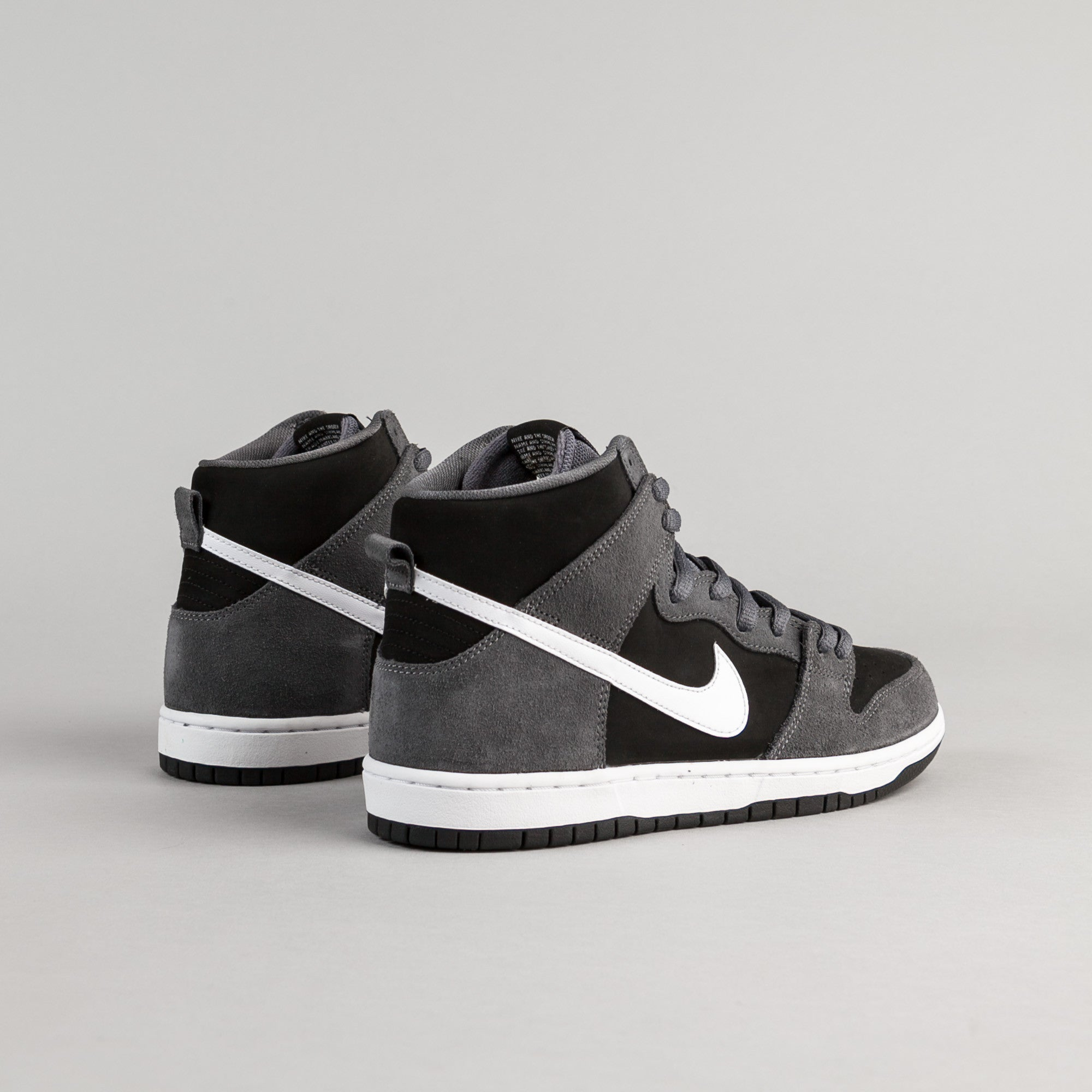 Nike SB Dunk High Pro Shoes - Dark Grey / White - Black - White