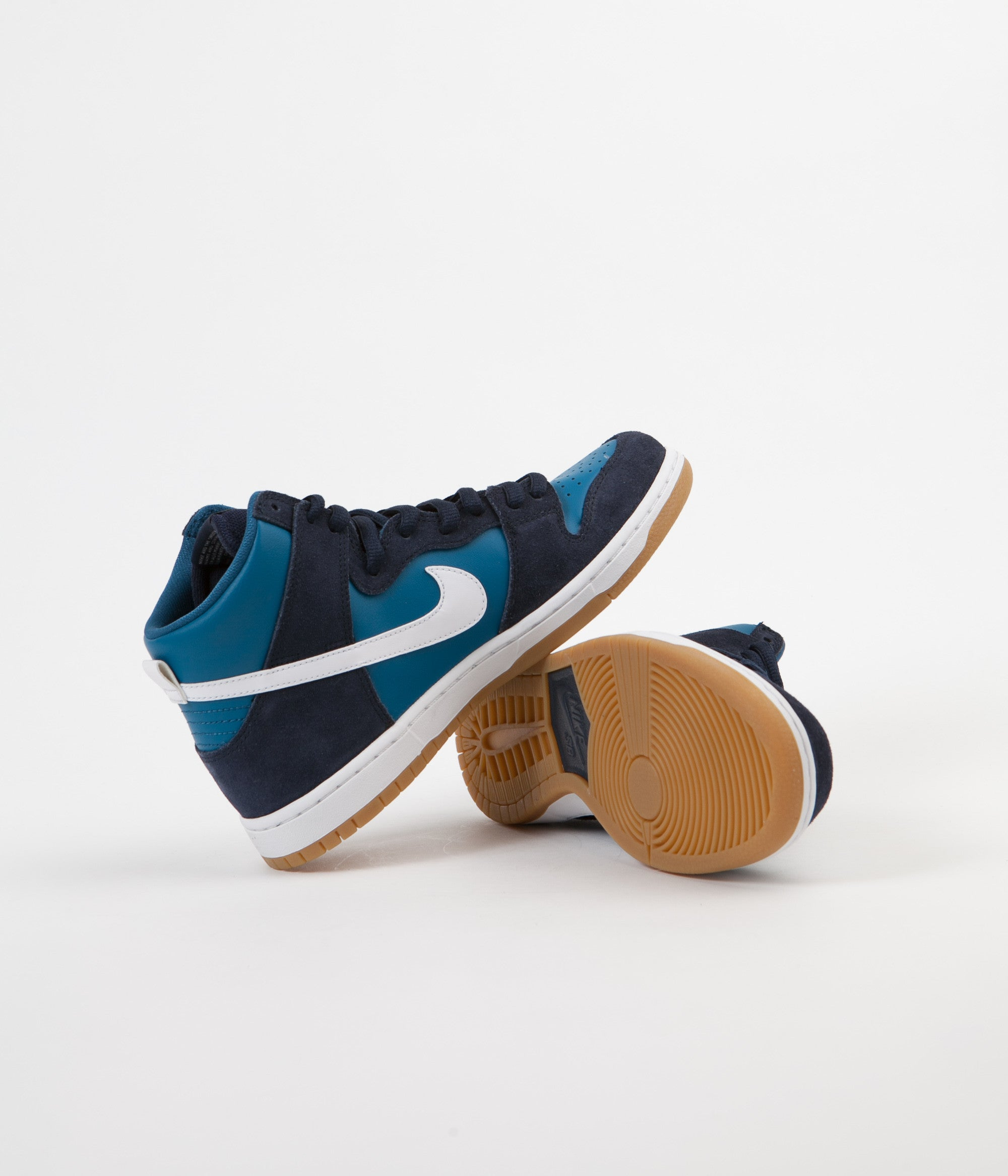 Nike SB Dunk High Pro Shoes - Obsidian / White - Industrial Blue