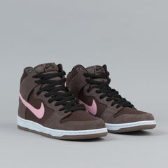 Nike SB Dunk High Pro Shoes - Smoke / Ion Pink / Baroque Brown