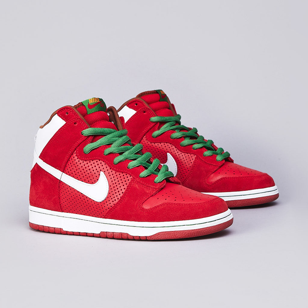 Nike SB Dunk High Pro Sport Red / White