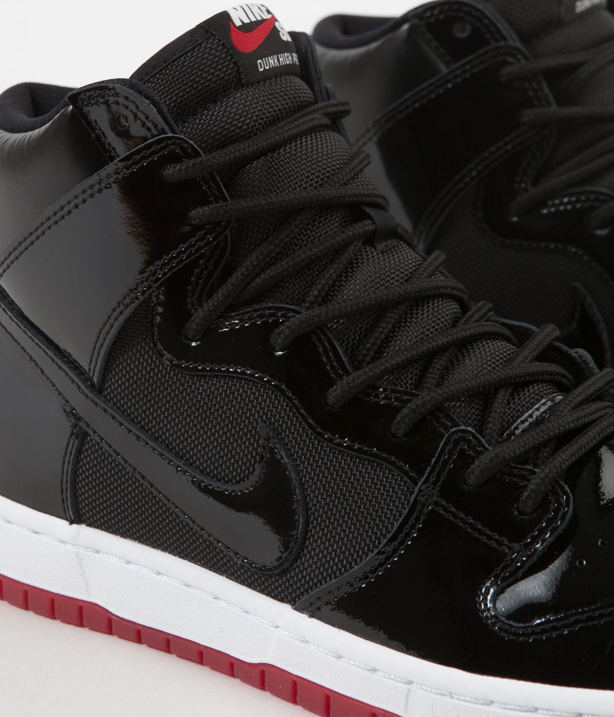 0f158b07ce ... Nike SB Dunk High TR Shoes - Black   Black - White - Varsity Red ...