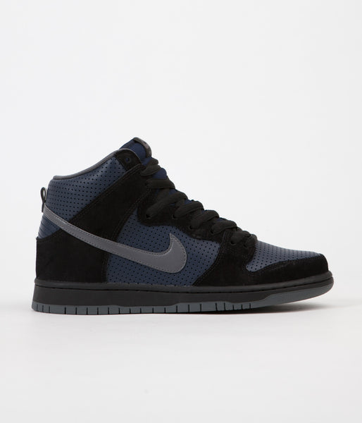 Nike SB Dunk High TRD Gino Shoes - Black / Light Graphite - Obsidian
