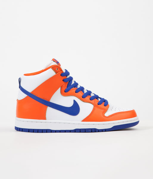 Nike SB Dunk High TRD Supa QS Shoes - Safety Orange / Hyper Blue - White