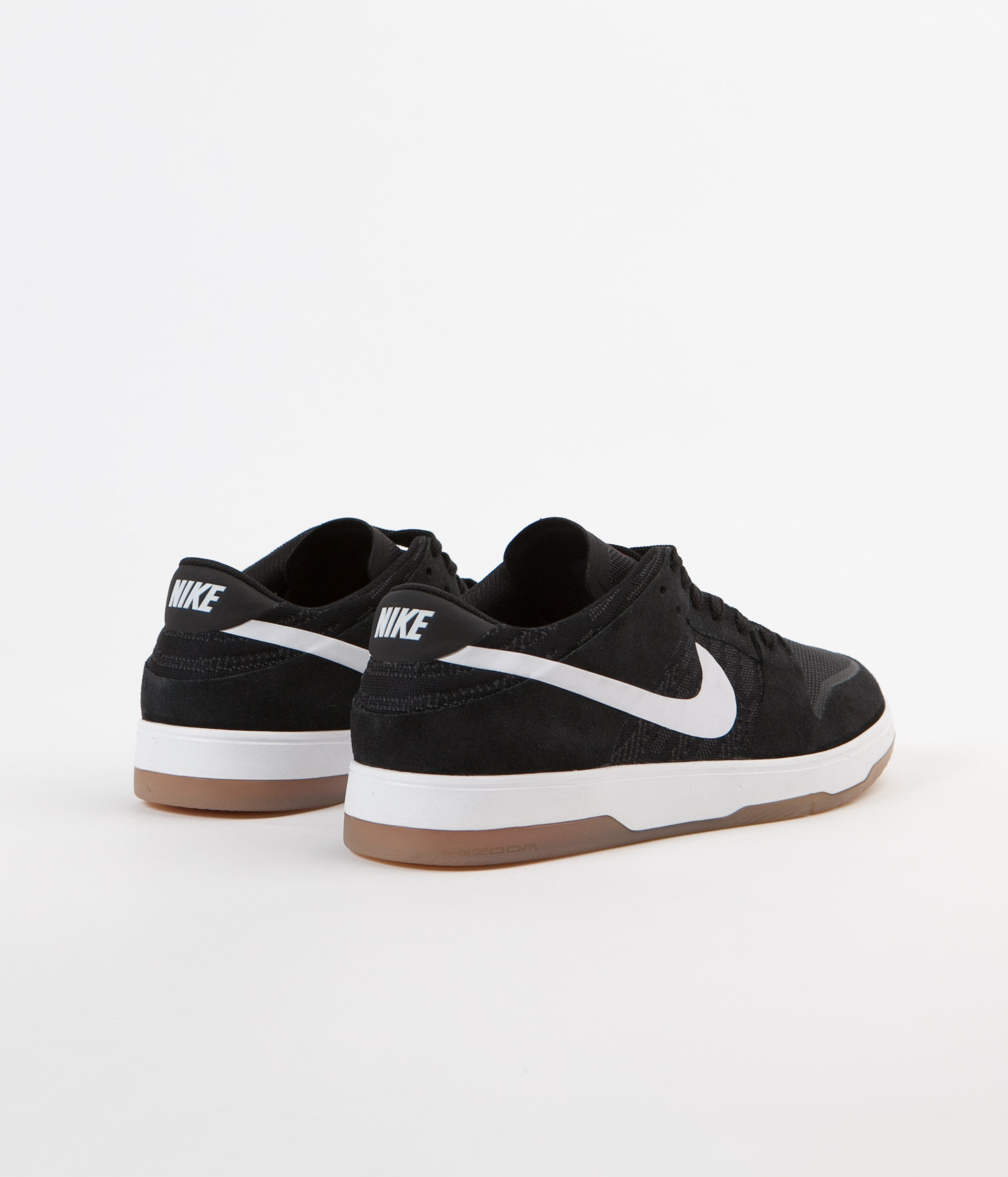 Nike SB Dunk Low Elite Shoes - Black / White - Gum Light Brown - Anthracite