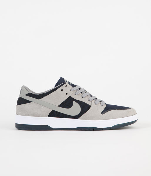 Nike SB Dunk Low Elite Shoes - Medium Grey / Medium Grey - Dark Obsidian