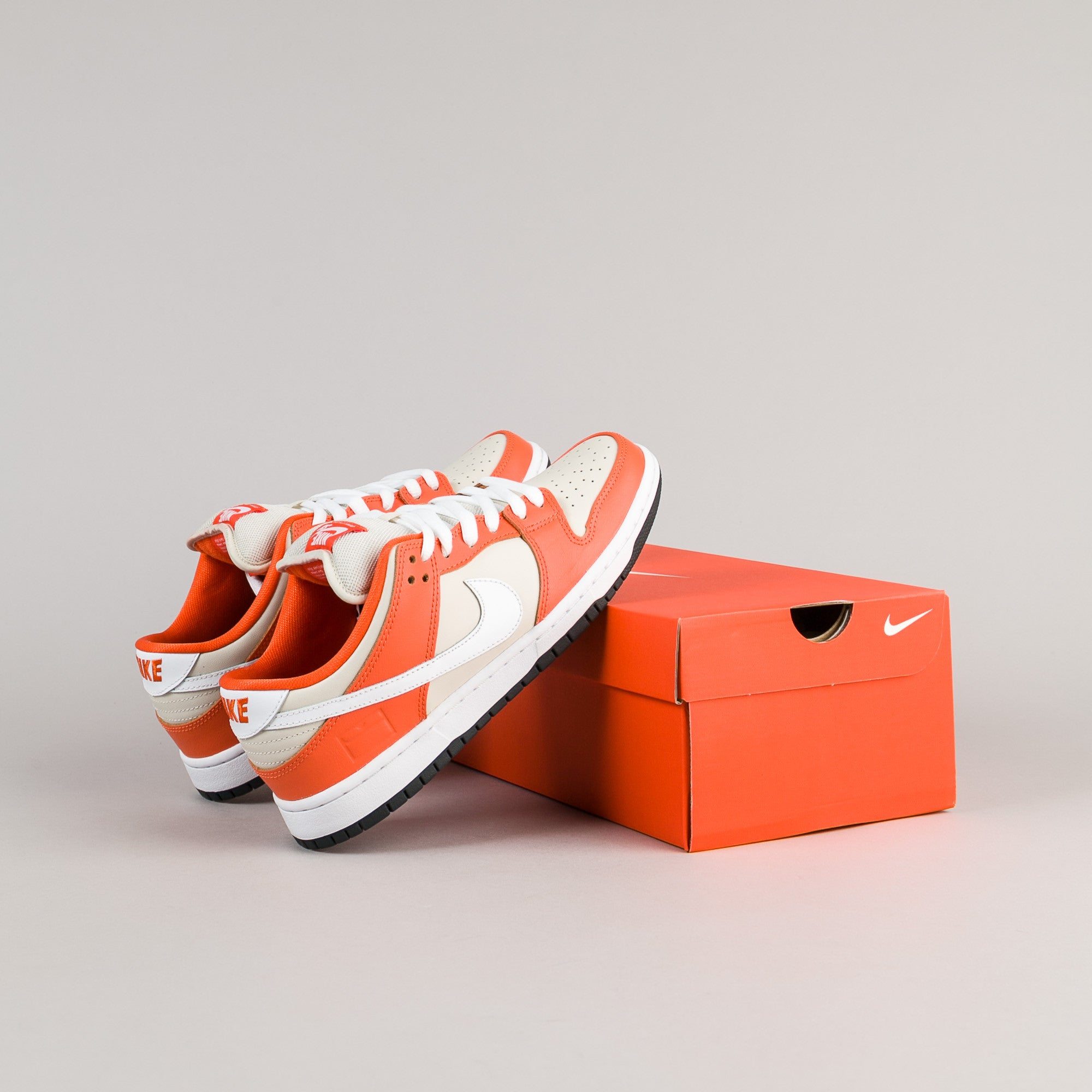 Nike SB Dunk Low Premium Shoes - Safety Orange / White - Cream