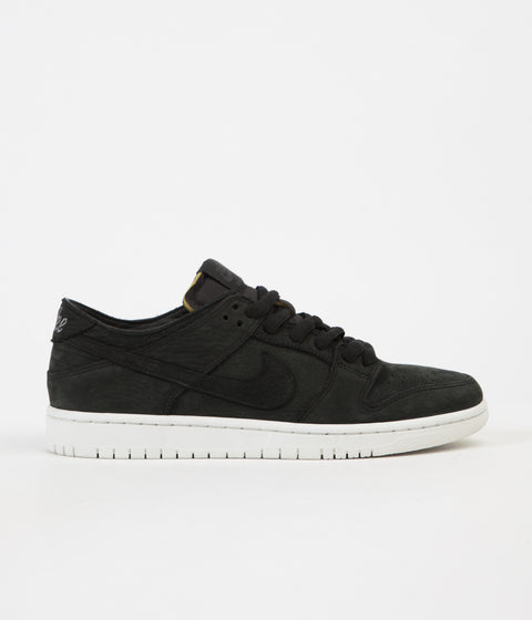 Nike SB Dunk Low Pro Deconstructed Shoes - Black / Black - Summit White - Anthracite