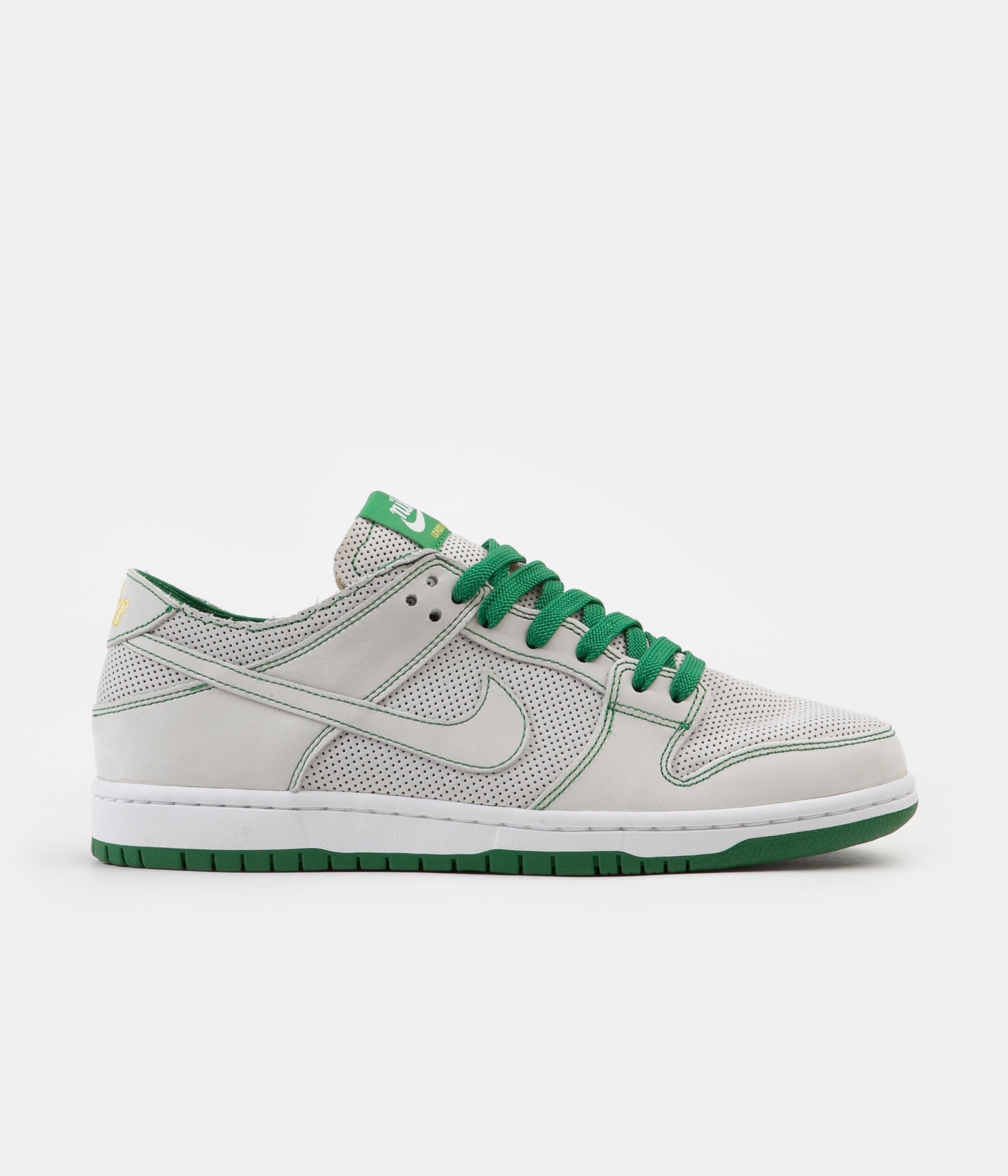 a39f94269fb Nike SB Dunk Low Pro Ishod Deconstructed Shoes - White   White - Aloe Verde  - Tour Yellow
