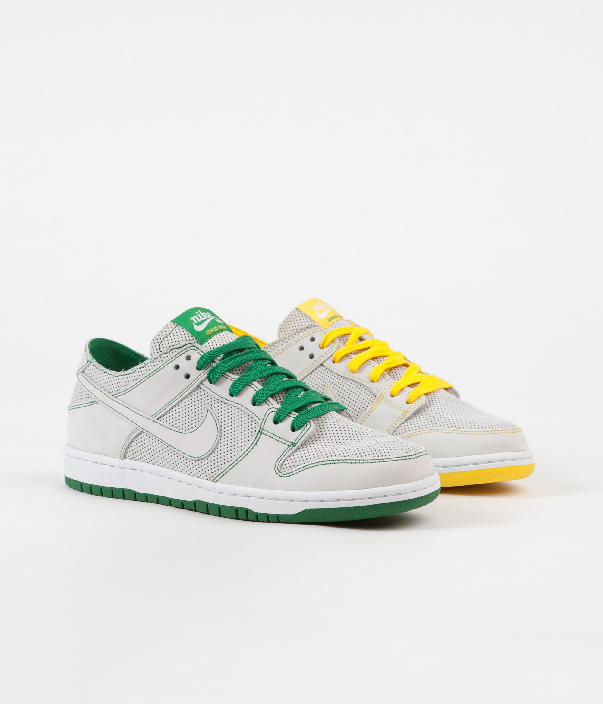 huge discount 8654f fa511 ... france nike sb dunk low pro ishod deconstructed shoes white white aloe  verde 862d9 01821